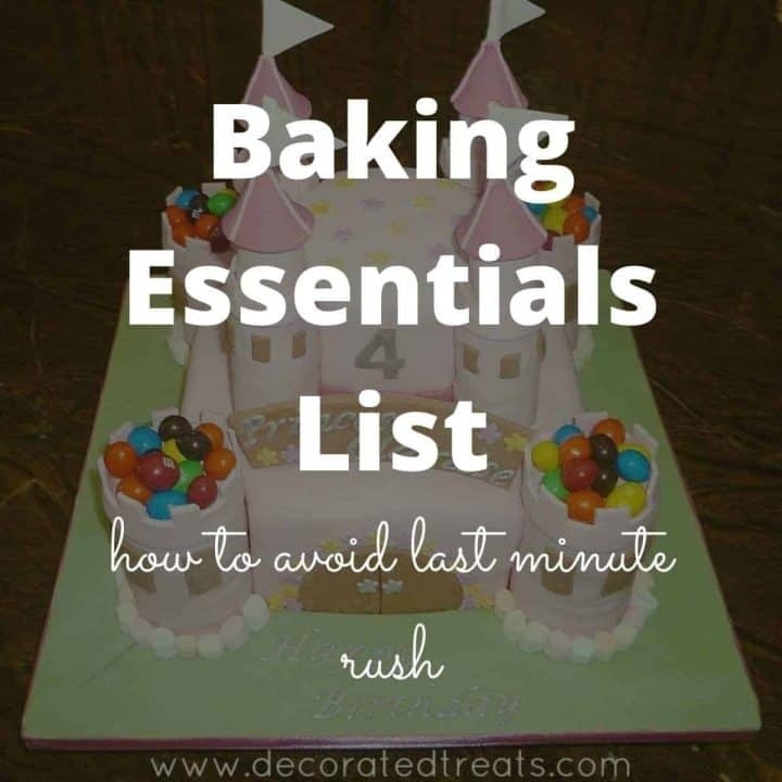 Poster for baking essentials list