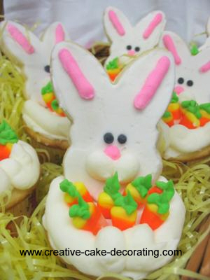 Cupcakes with white bunny deco