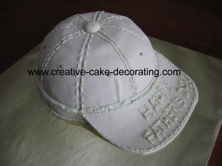 A cake shaped like a cap