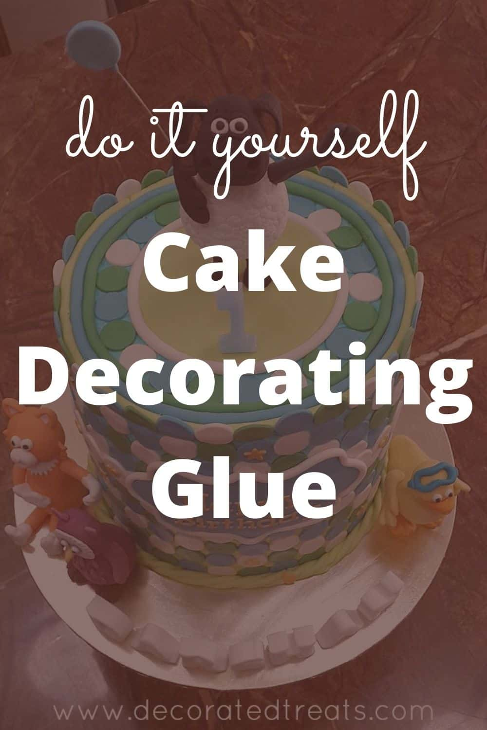 Poster for do-it-yourself-cake-decorating-glue