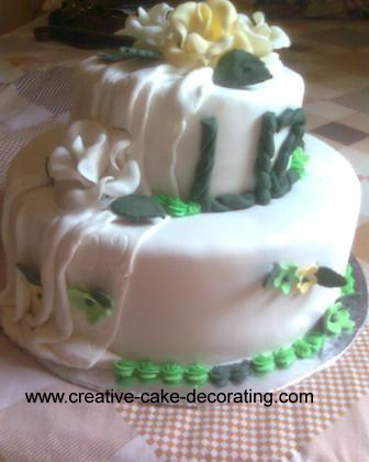 Green birthday cake