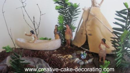 Native American Woodlands Cake