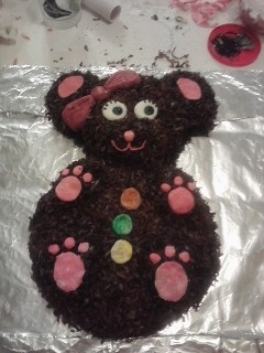 2d teddy bear cake