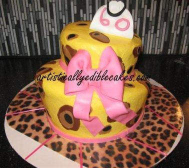 Fun cake design with Topsy turvy birthday cake