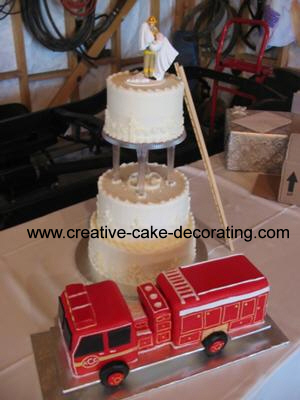 Fire truck themed grooms cake