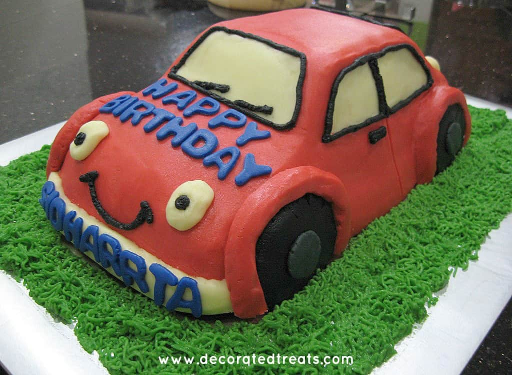 A car shaped cake