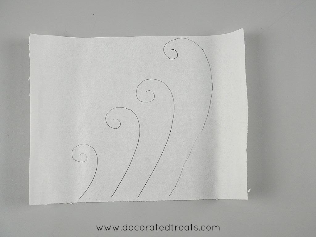 Fondant waves paper template