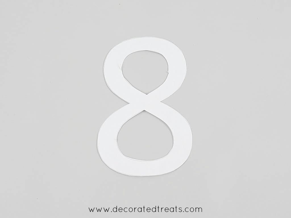 A number 8 paper template cut out