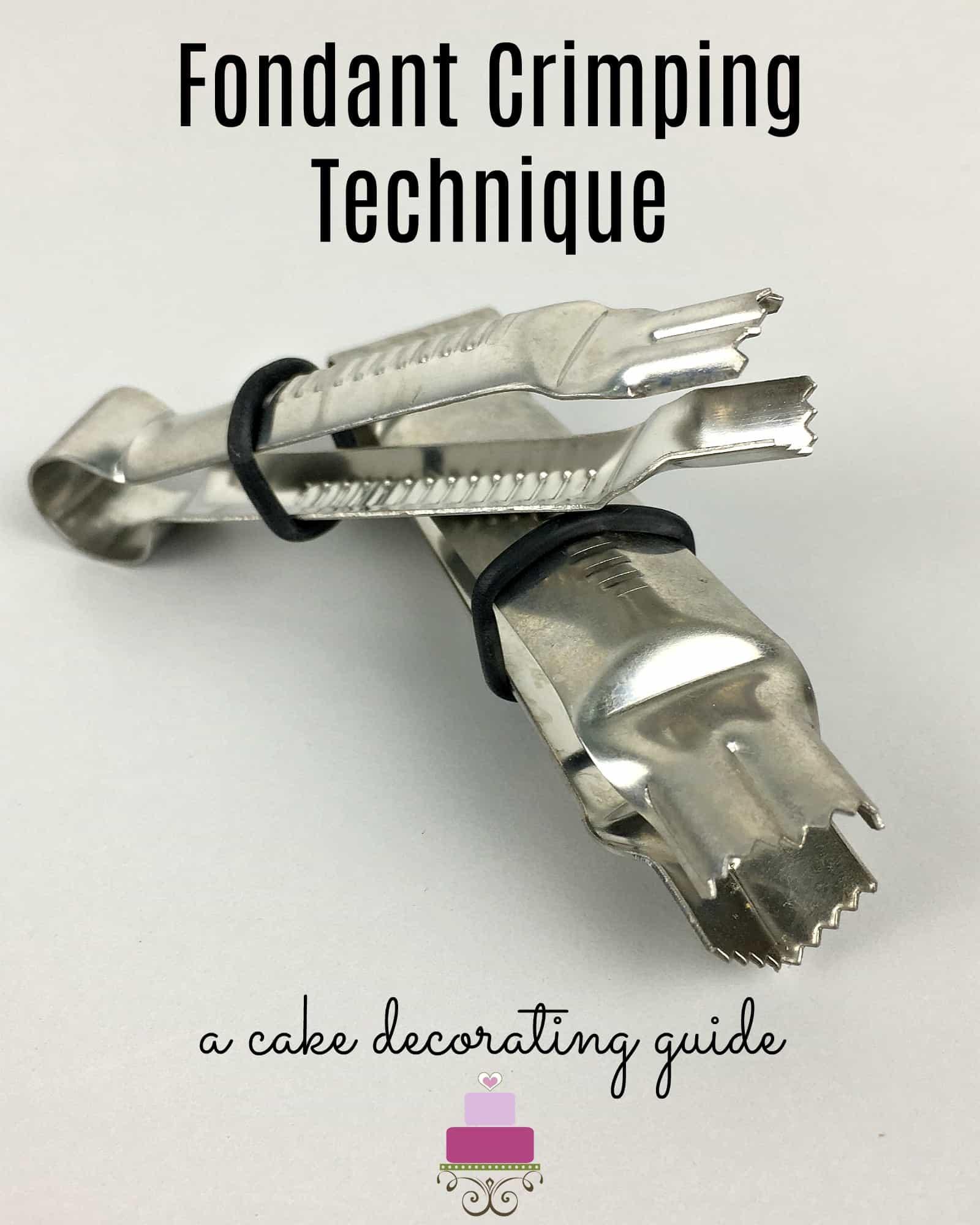 Fondant crimper tools poster