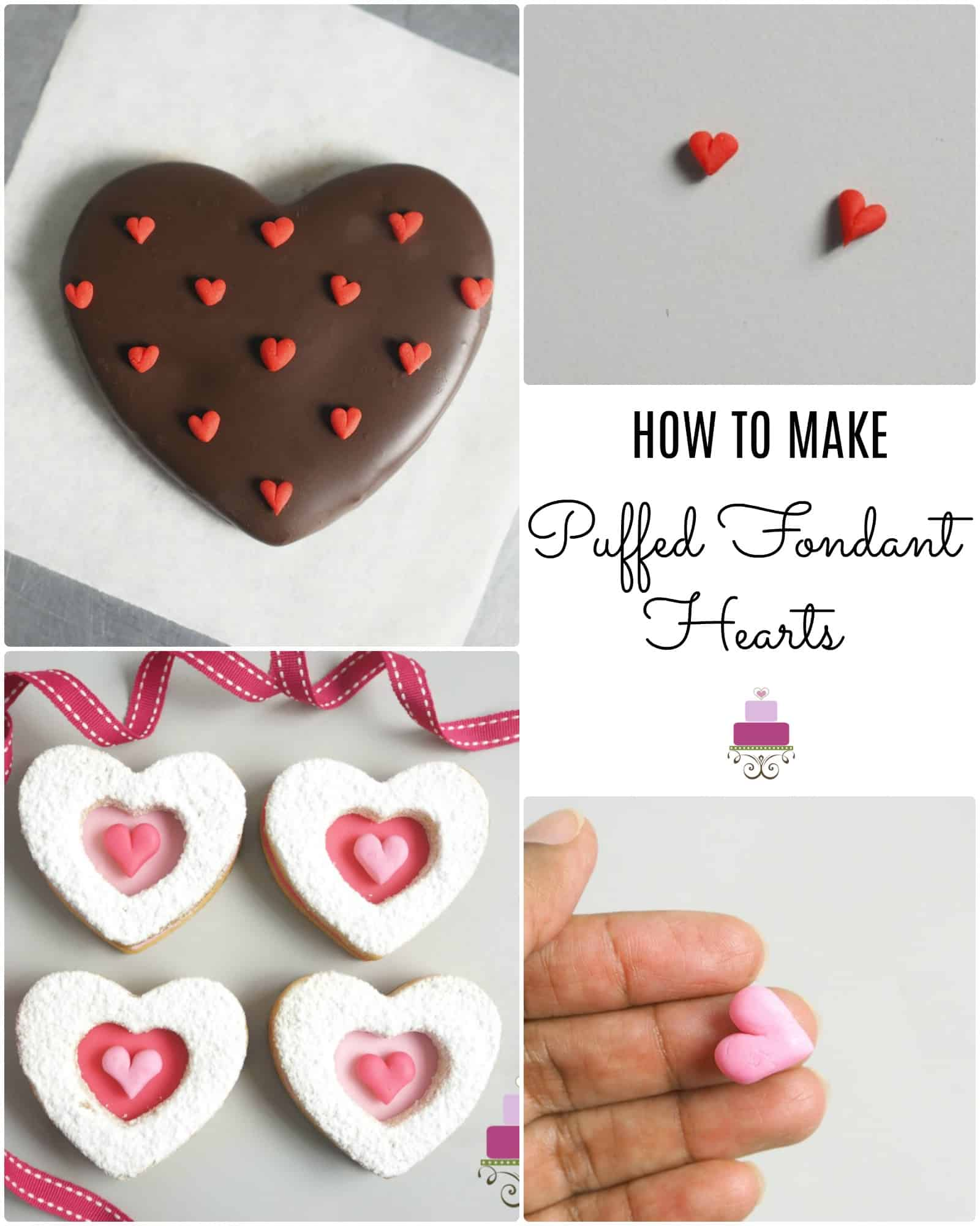 Poster making fondant hearts without cutters