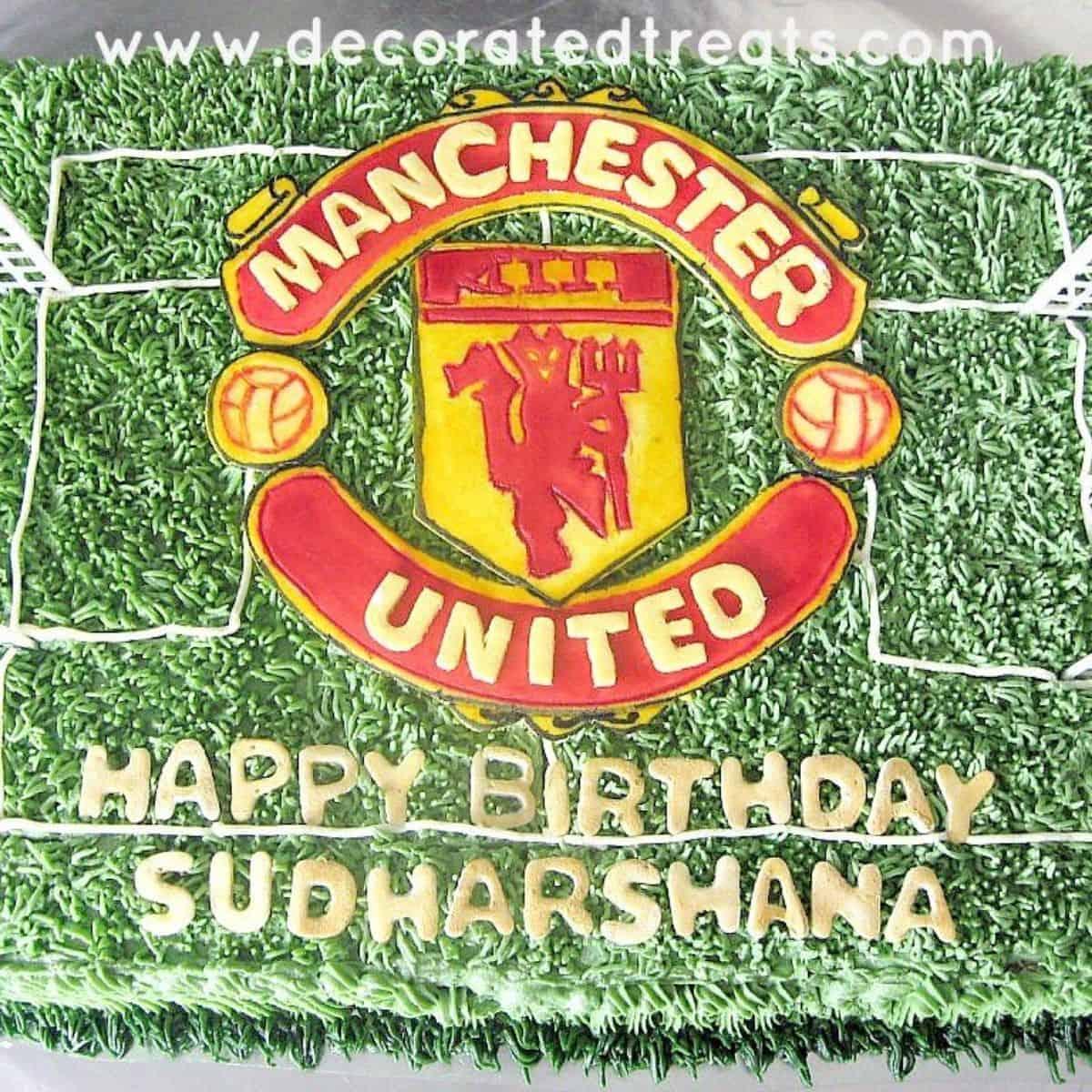 manchester united cake decorating idea decorated treats manchester united cake decorating idea