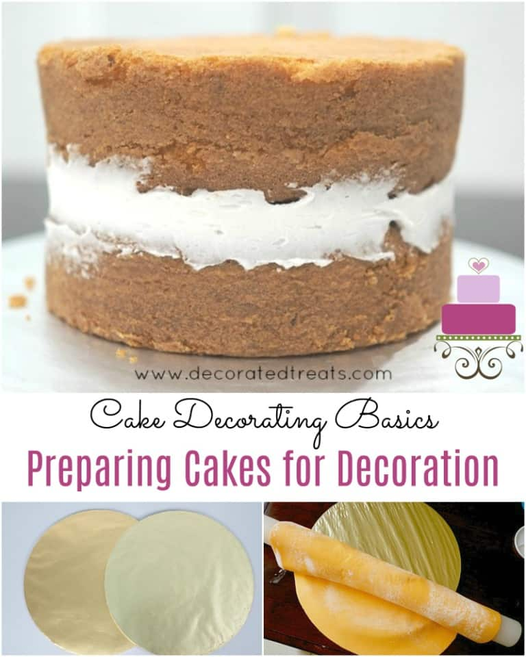 Poster for cake decorating basics