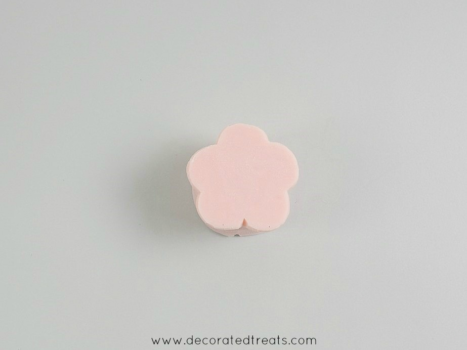 Pink flower silicone mold