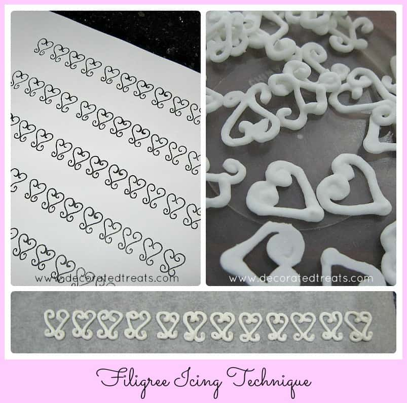 Poster for filigree icing technique