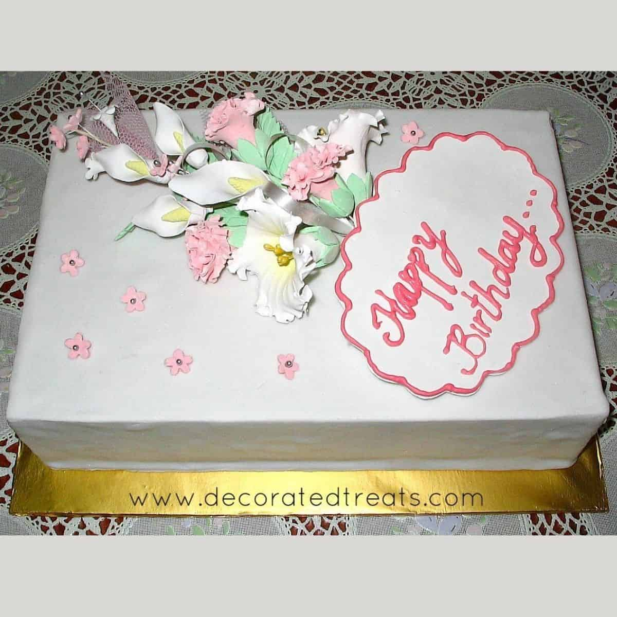 Floral Bouquet Cake Decorating Idea Decorated Treats