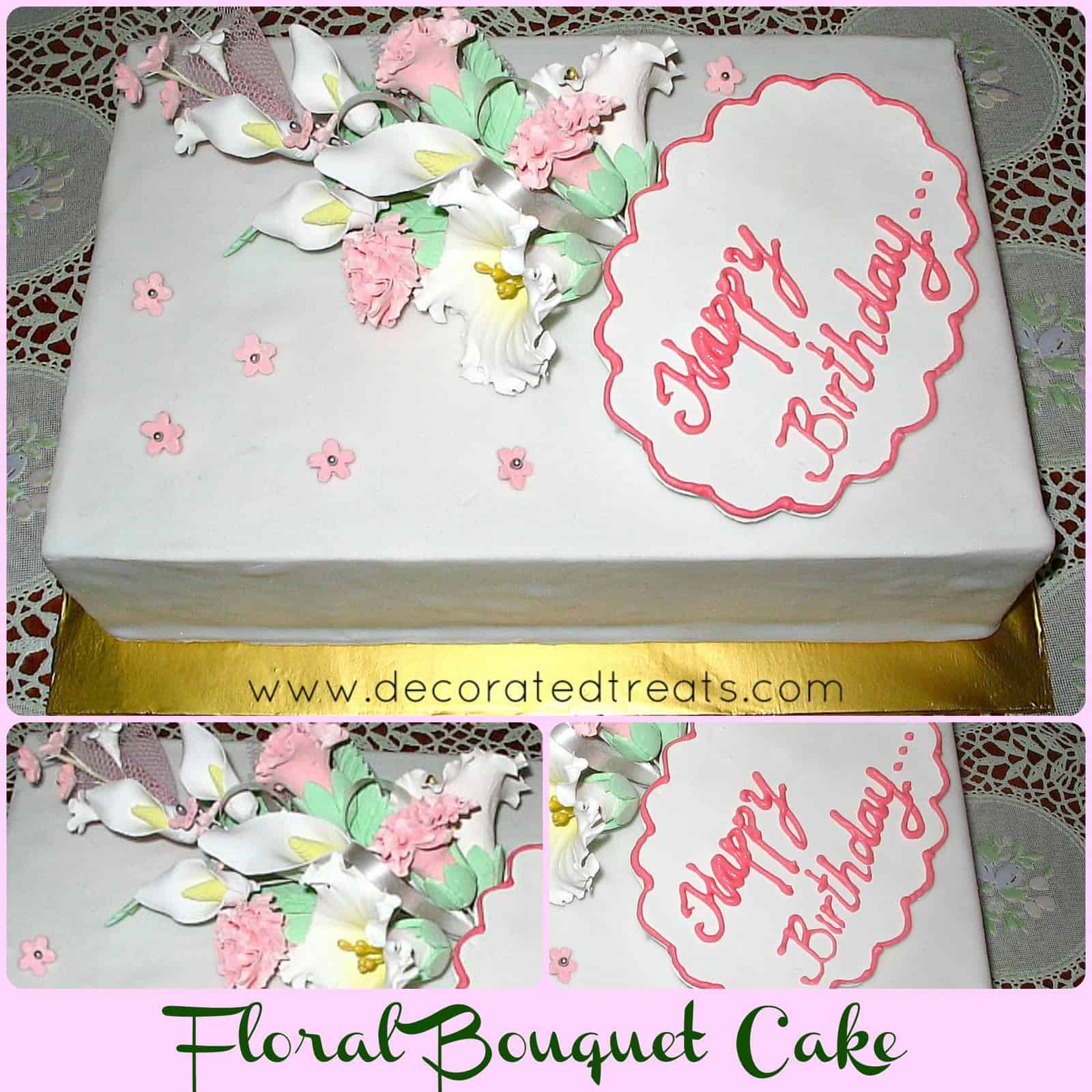 Poster for floral bouquet cake