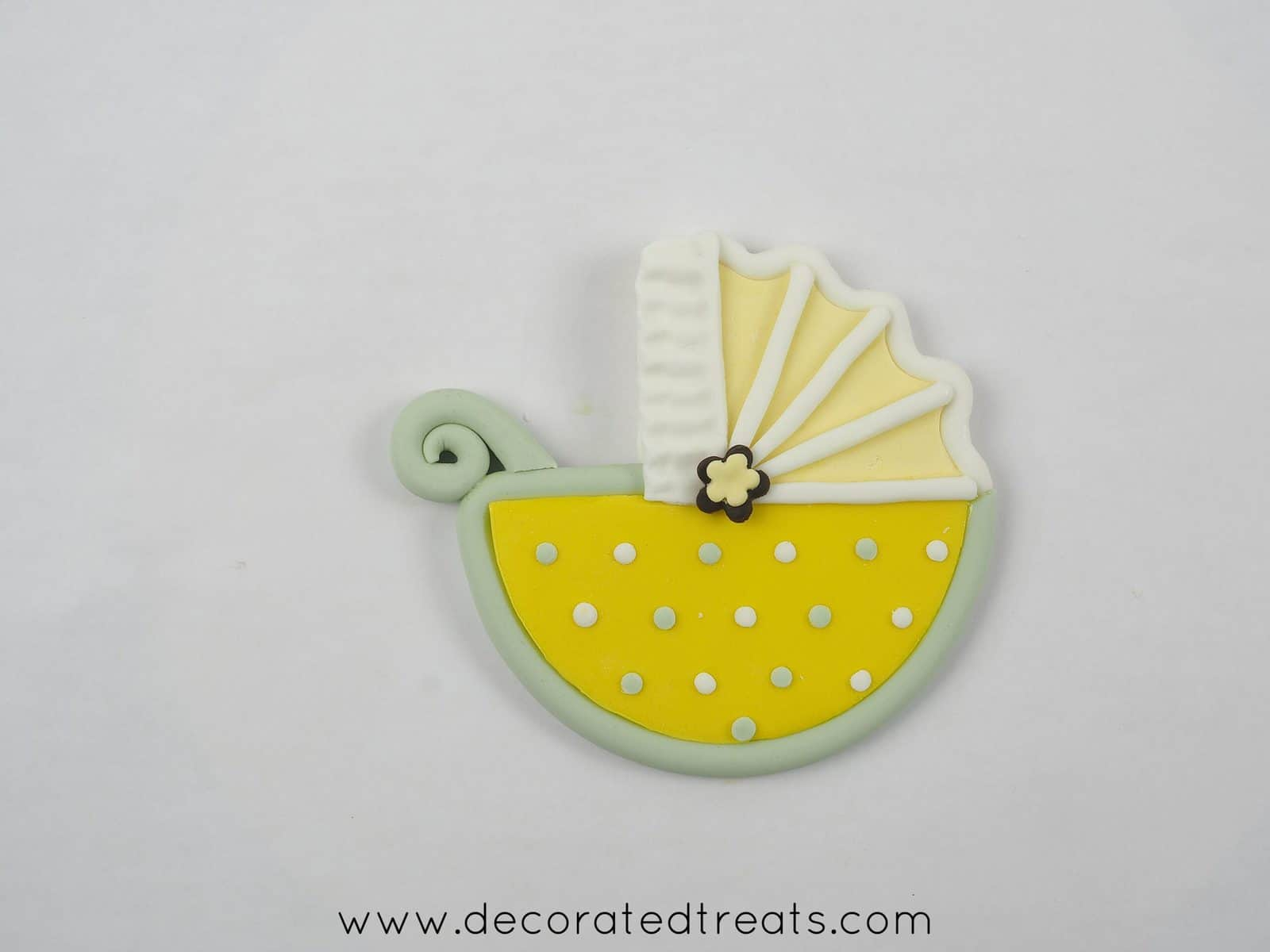 Fondant stroller without wheels