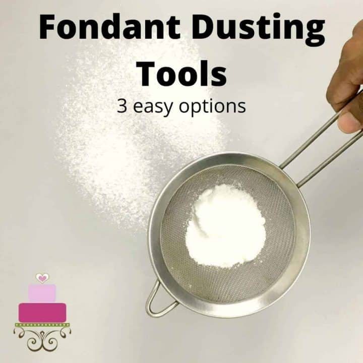 Using a small sieve to sift icing sugar