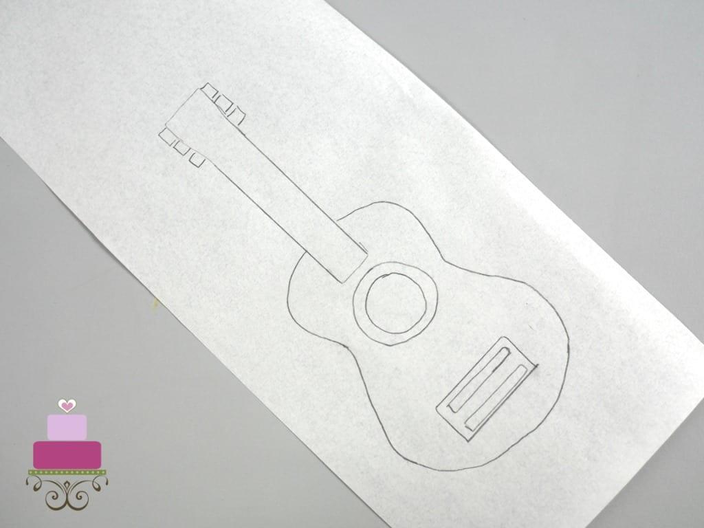 Guitar paper template