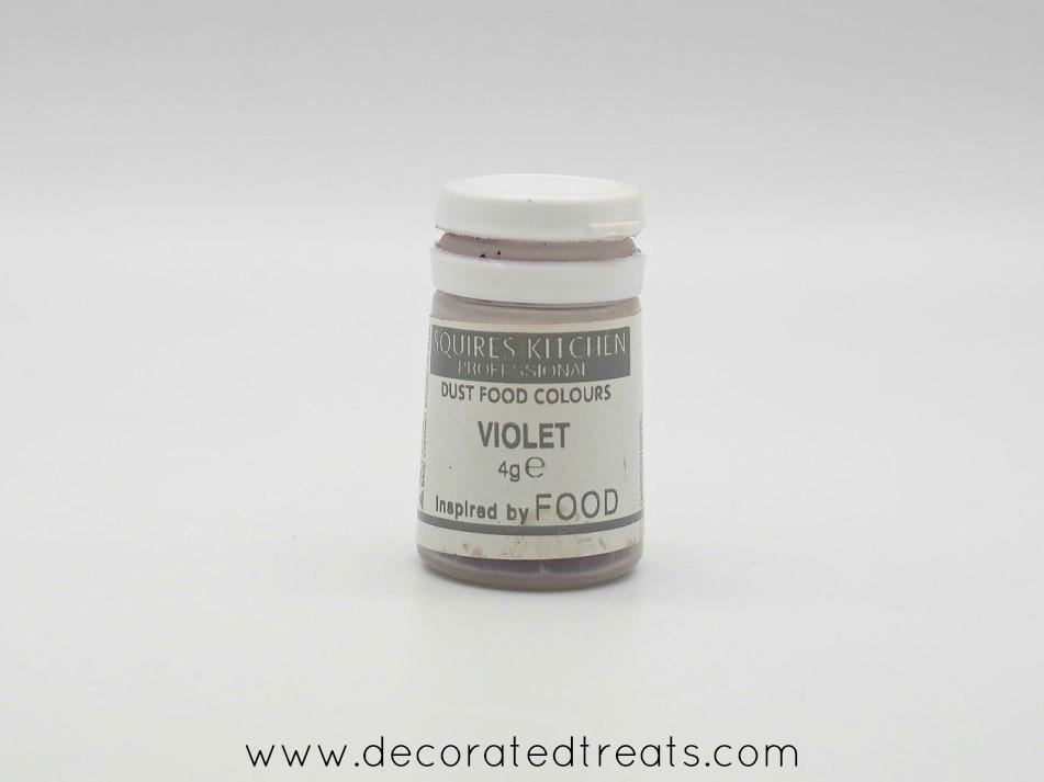 Violet petal dust bottle