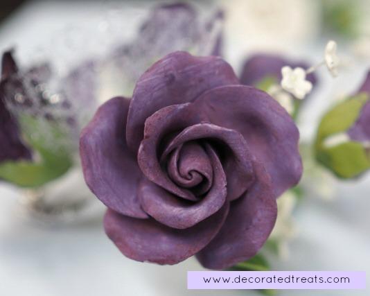 Purple gum paste rose