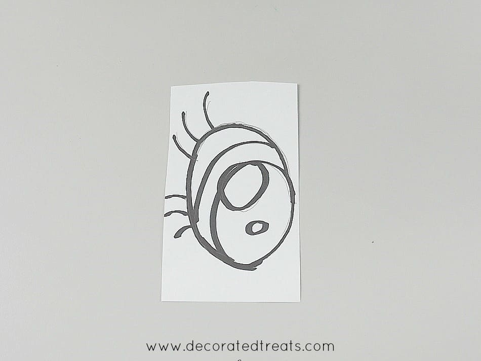 Eyes paper template