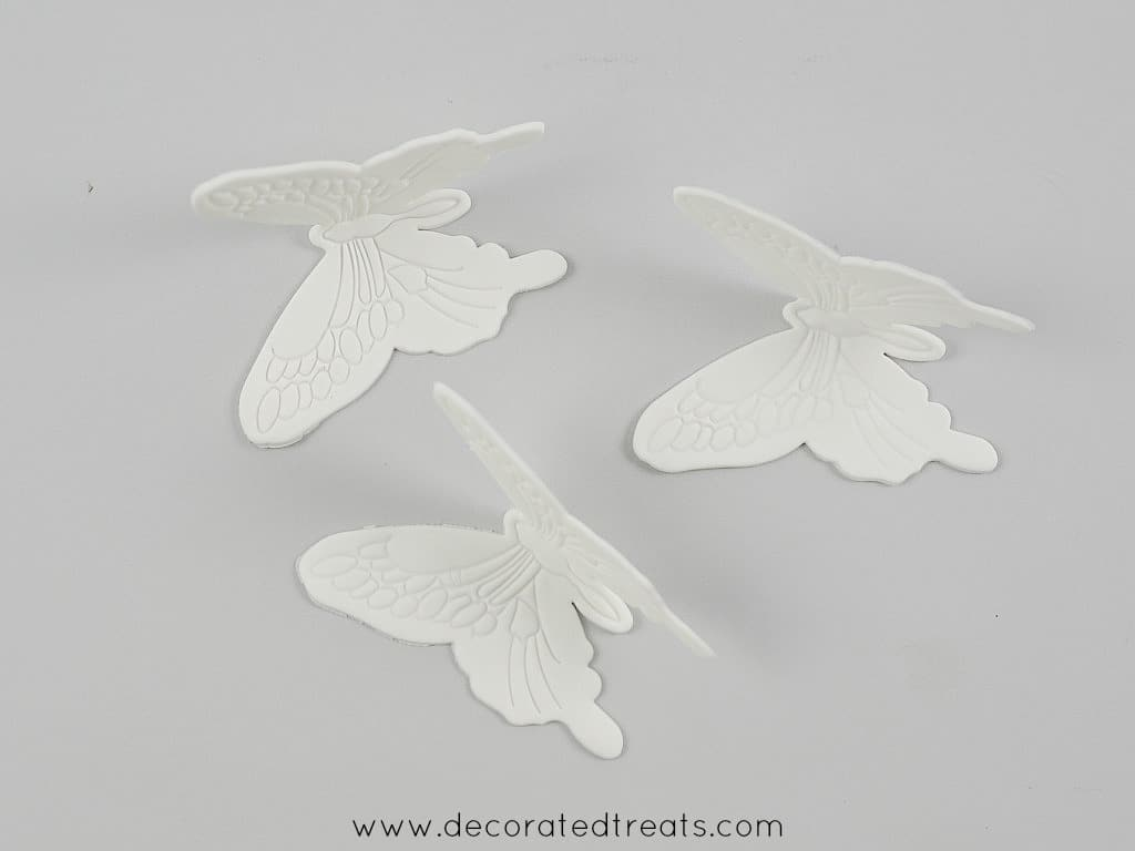 Gum paste butterflies