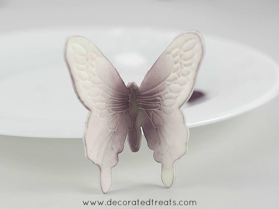 Gum paste violet butterfly