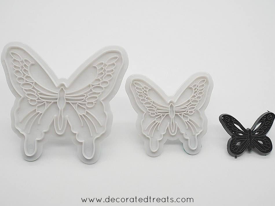 Gum paste butterfly cutters