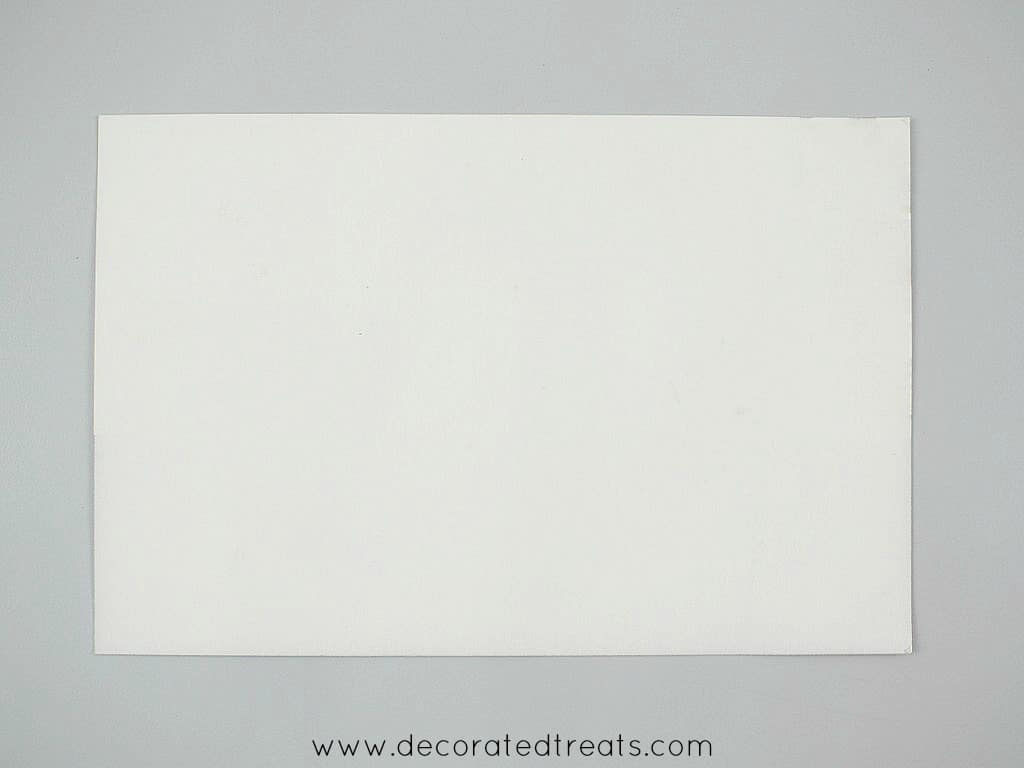 A piece of white rectangle paper