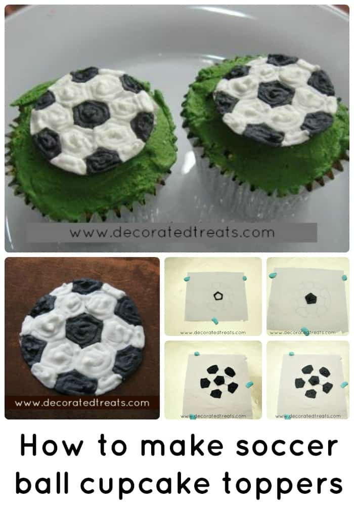 Poster for soccer ball cupcake toppers