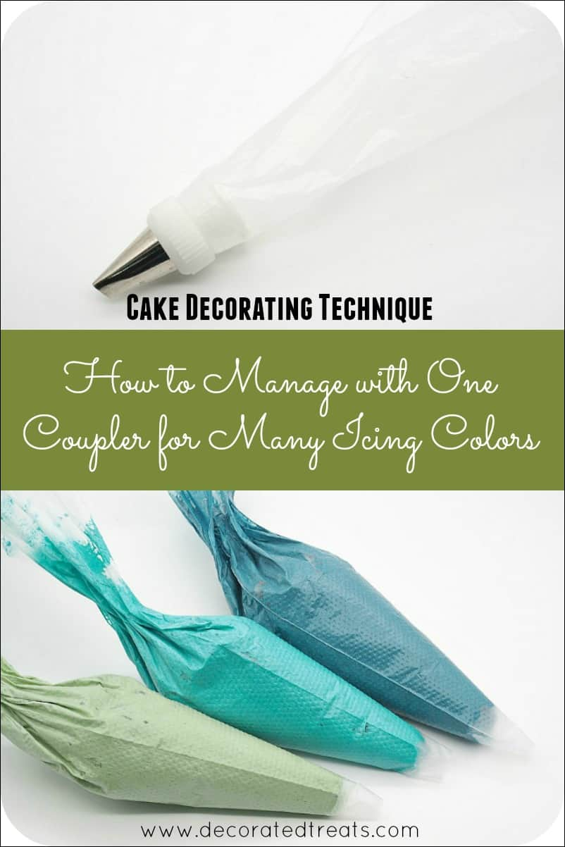 Poster on how to use one icing coupler for many icing colors