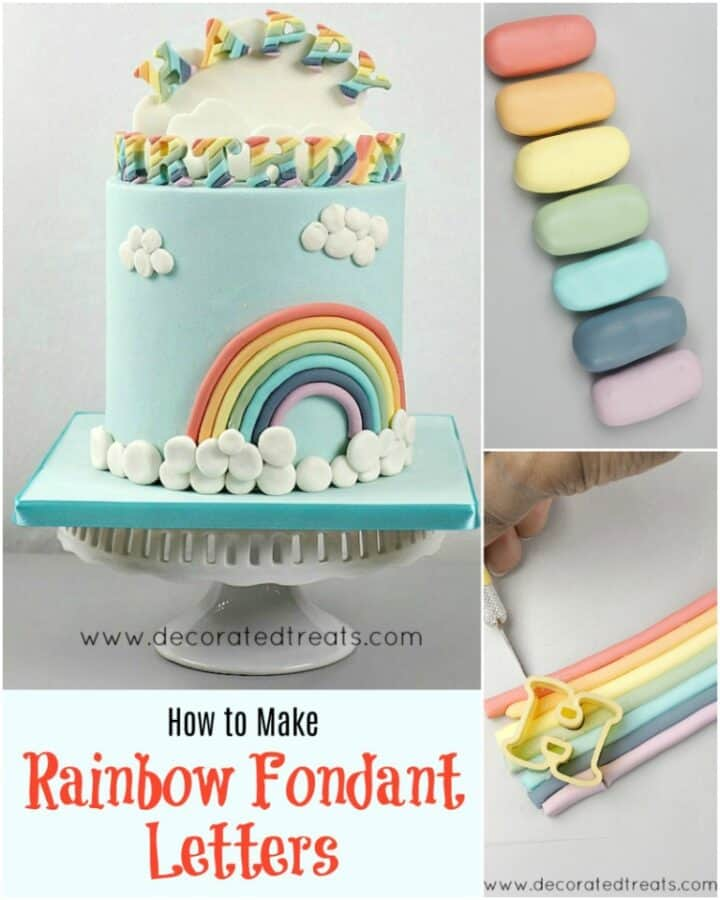 Poster for making rainbow fondant letters