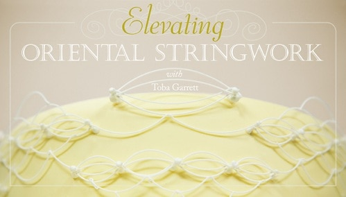 Poster with the wordings ' oriental stringwork'