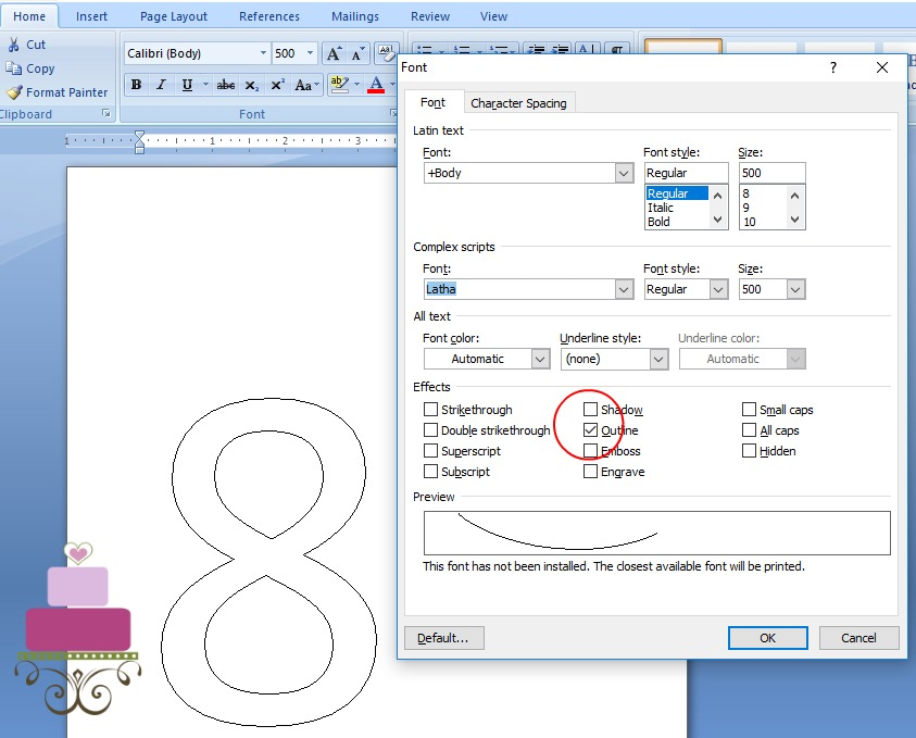 Adjusting to outline mode on word document