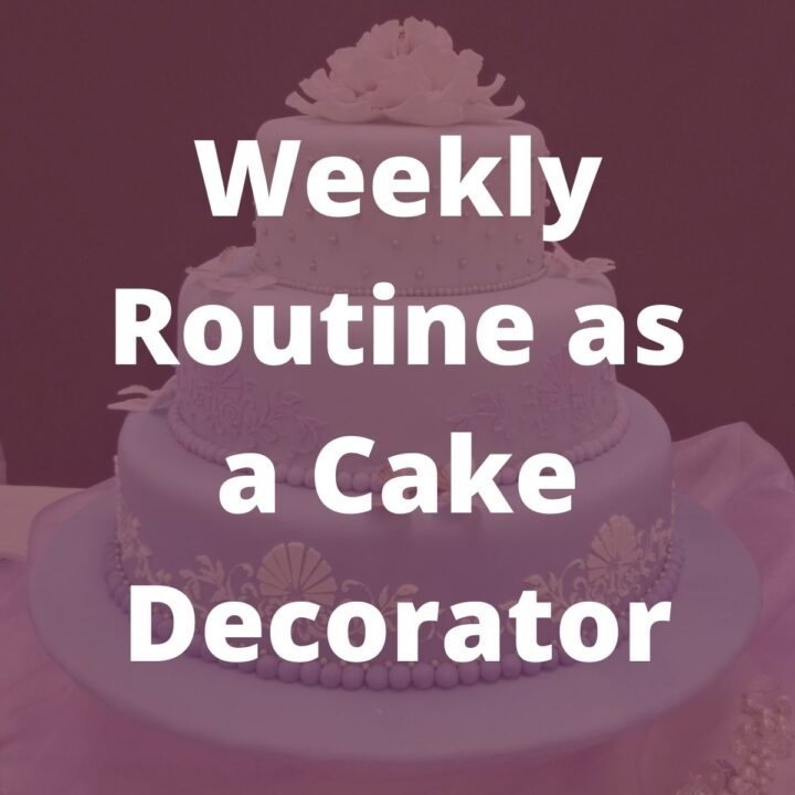 Poster for weekly routine as a cake decorator