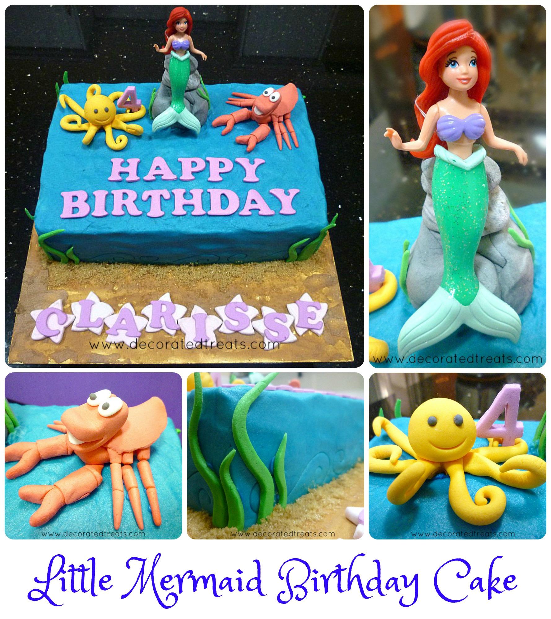 Poster for Ariel the Little Mermaid Birthday Cake