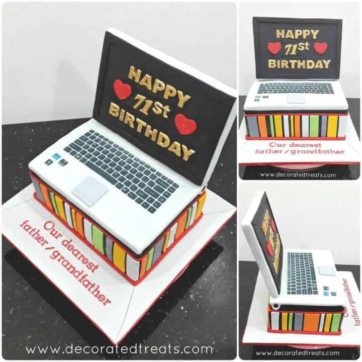 Laptop cake poster