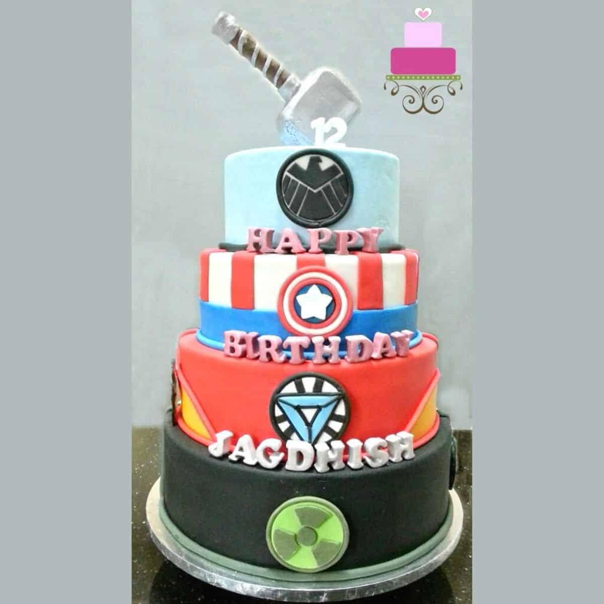 Superhero Birthday Cake An Awesome Tutorial Decorated Treats
