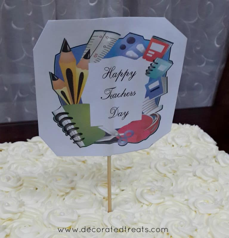 A simple paper topper for Teachers Day in paper