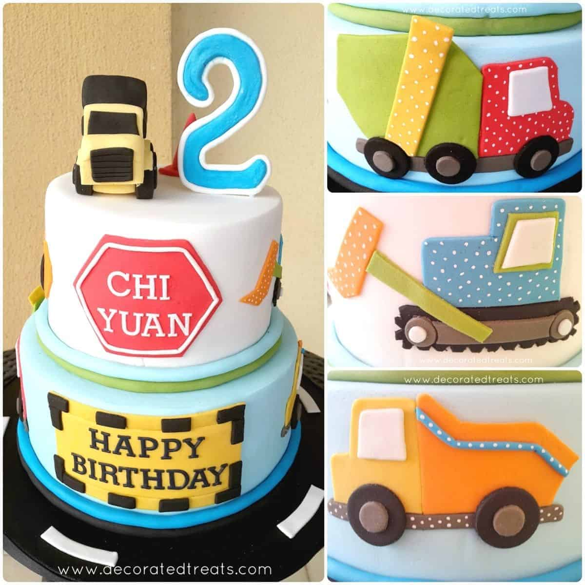 Truck Cake For 2nd Birthday A Decorating Tutorial Decorated Treats