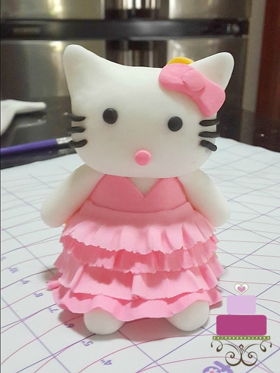 Hello Kitty topper in pink dress