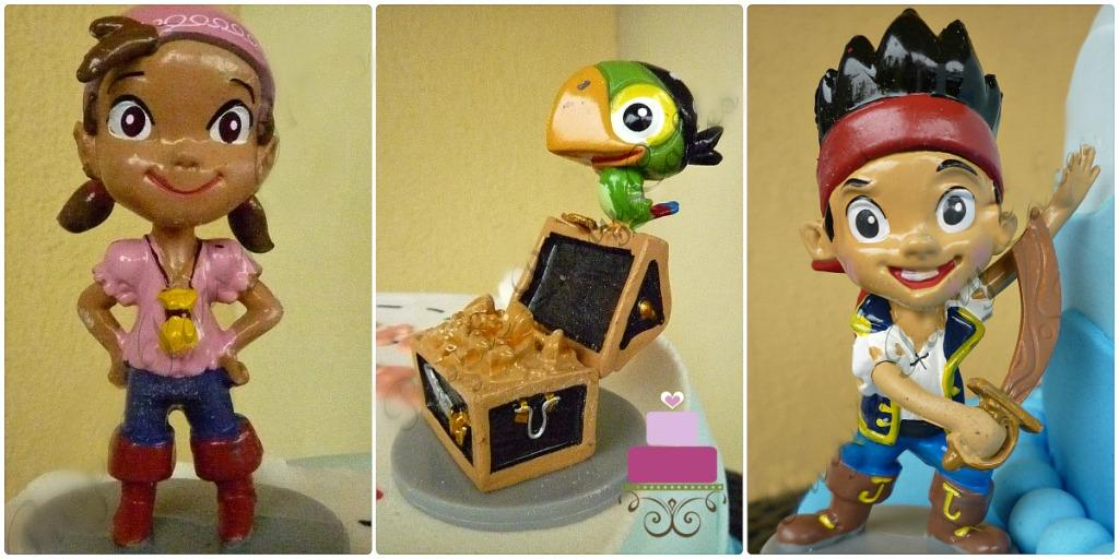 Jake and the Neverland Pirates cake toppers