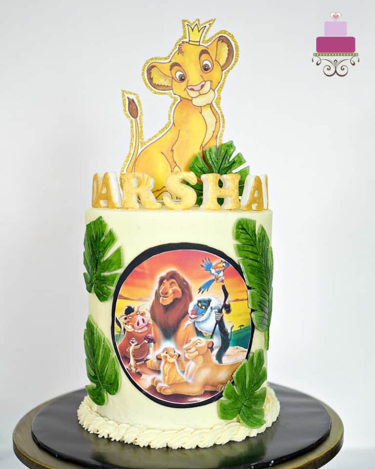 Lion King Cake With Simba Cake Topper Decorated Treats