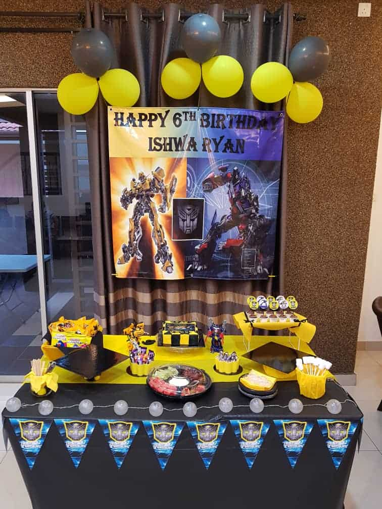 A Transformers themed birthday party
