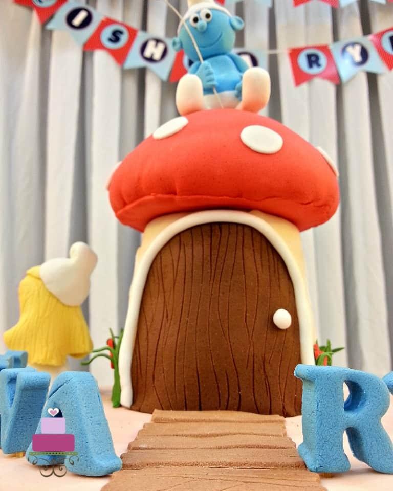 A mushroom shaped cake