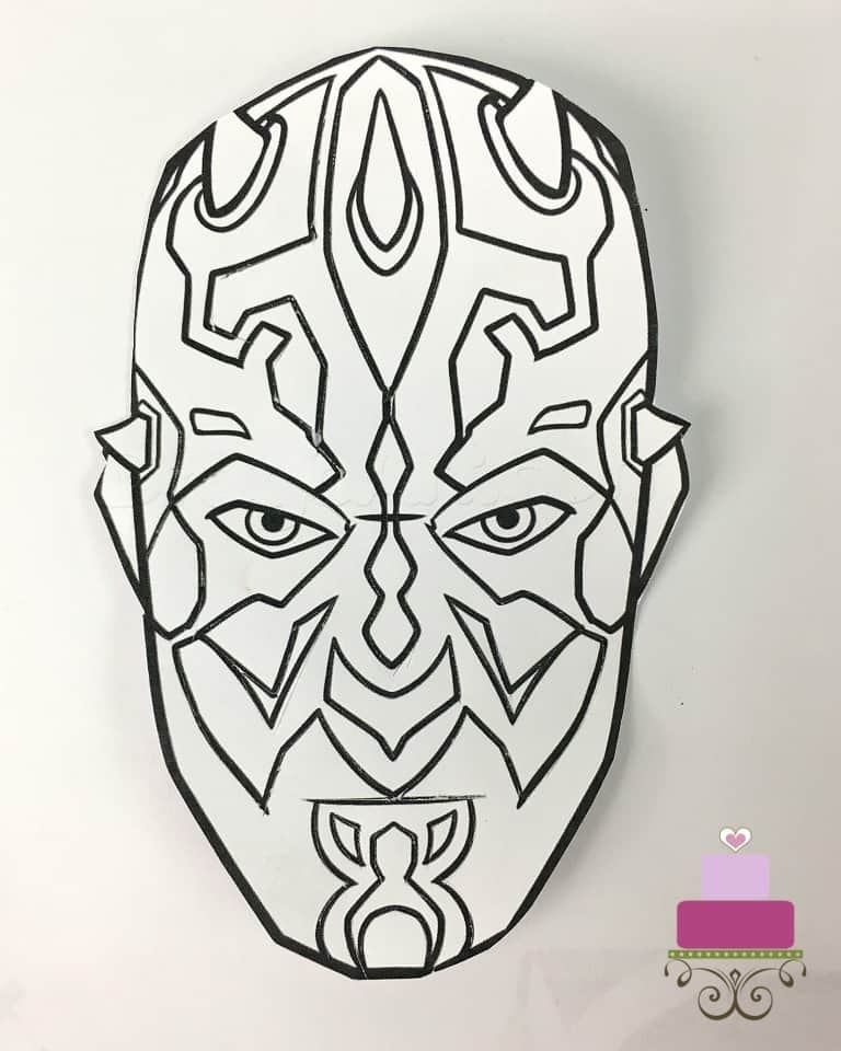 Darth Maul face image paper template