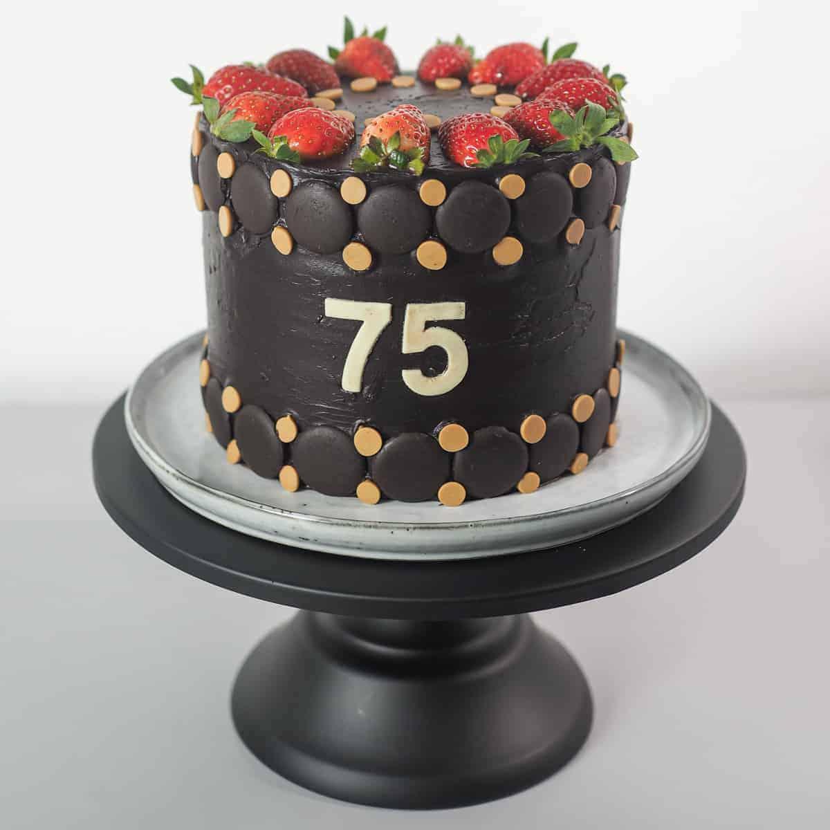 75th Birthday Cake Idea For Dad Decorated Treats