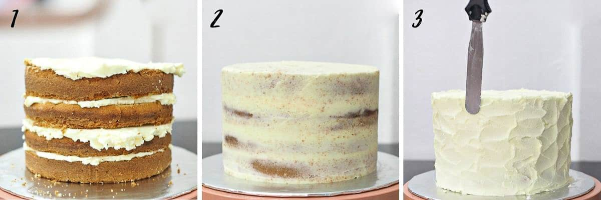 Poster for decorating a cake with buttercream