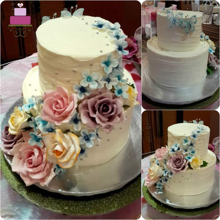 Rustic Wedding Cake A Chic Easy Cake Tutorial Decorated Treats